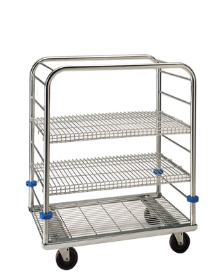 "Pedigo Stainless Steel Autoclave Cart - 45 3/8"" Height - Alternative Source Medical"