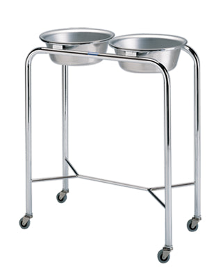 Pedigo Stainless Steel Double Basin Stand With 2 Basins & Y-Brace - Alternative Source Medical