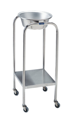 Pedigo Stainless Steel Single Basin Stand With 1 Stainless Steel Basin & Lower Shelf - Alternative Source Medical
