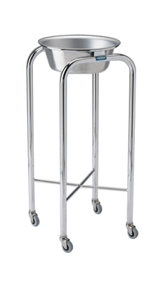 Pedigo Stainless Steel Single Basin Stand with Stainless Steel Basin - Alternative Source Medical