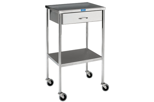 Pedigo Utility Table with Shelf and Drawer (No Rail) - Alternative Source Medical