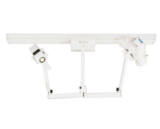 Surgery Light - Philips Burton OP216DT Outpatient II Procedure Light Fastrac, Dual Head & Single Trolley