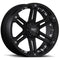 20X9 5x4.5 5x127 5x4.5 5x5 Tuff 10mm T01 Black Chrome
