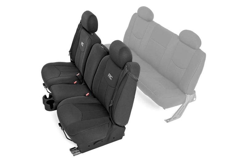 GM 99-06 1500 SEAT COVERS W40/40/20 FRONT SEATS BLACK 91013