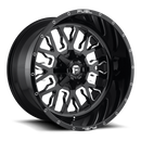 FUEL 1PC D611 STROKE 17x9 5x114.30/5x127.00 GLOSS BLACK MILLED (-12 mm)