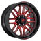 FUEL 1PC D663 IGNITE 20x10 8x170.00 GLOSS BLACK RED TINTED CLEAR (-18 mm)