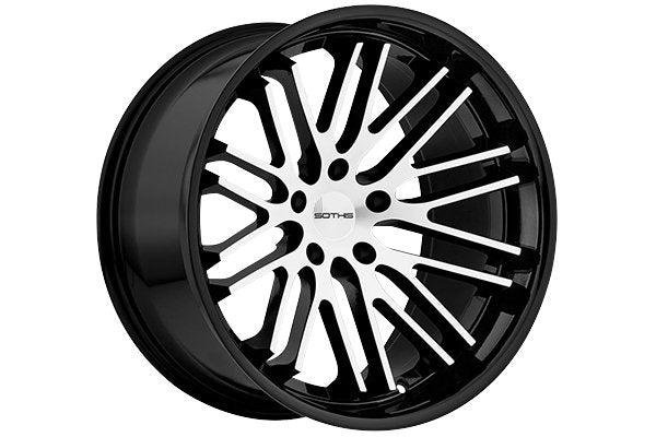 SOTHIS SC-3 20X10+25 5X4.5 GBM GLOSS BLACK AND MACHINED