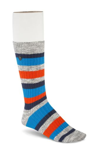 BIRKENSTOCK SOCKS SLUB STRIPES / GRAY MEL