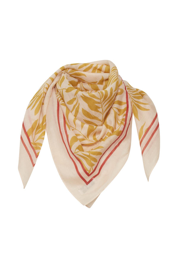 PART TWO CARICE SCARF (PALM PRINT/CREAM)