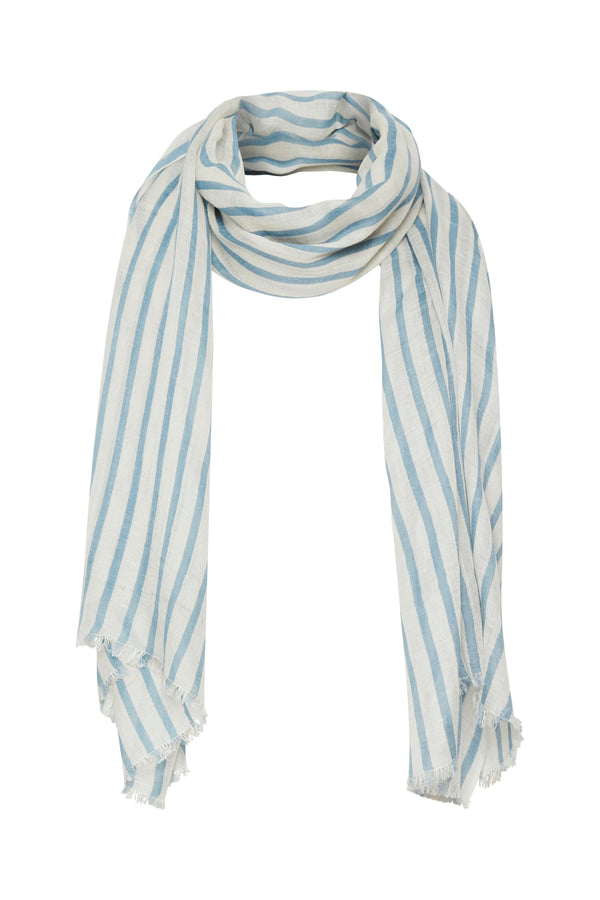 PART TWO CARIN SCARF (STRIPE/BLUE)