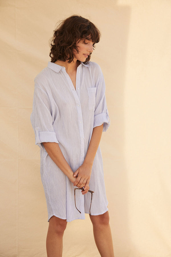 PART TWO ISIDORA DRESS / BLUE STRIPE