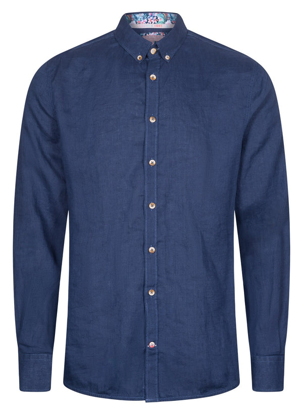 COLOURS & SONS LIAM SHIRT (DEEP SEA)