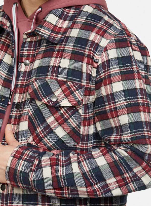 COLOURS & SONS BILLY OVERSHIRT / MERLOT CHECK