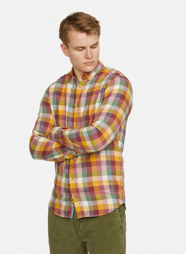 COLOURS & SONS THOMAS SHIRT / LEAVES CHECK