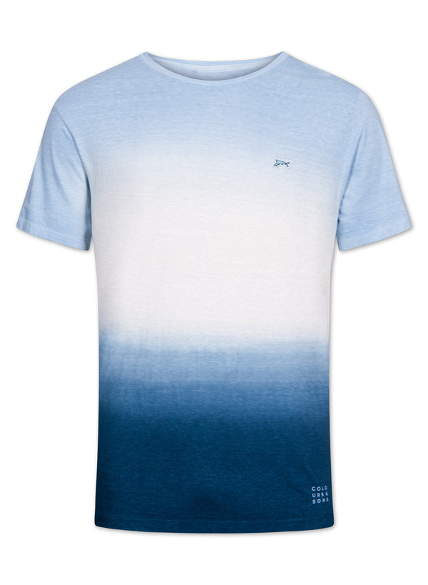 COLOURS & SONS FRANK TEE SHIRT (SKY)