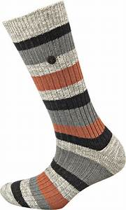 BIRKENSTOCK SOCKS SLUB STRIPES / AUBURN