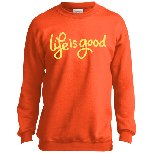 Kids Life Is Good Crewneck Sweatshirt