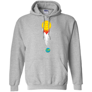 Bitcoin Rocket Pullover Hoodie