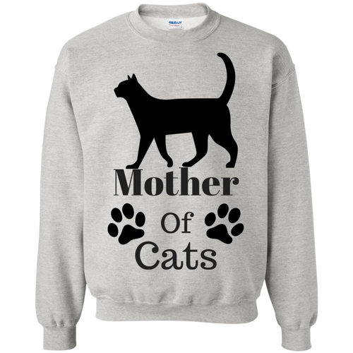 Mother Of Cats Crewneck Pullover Sweatshirt