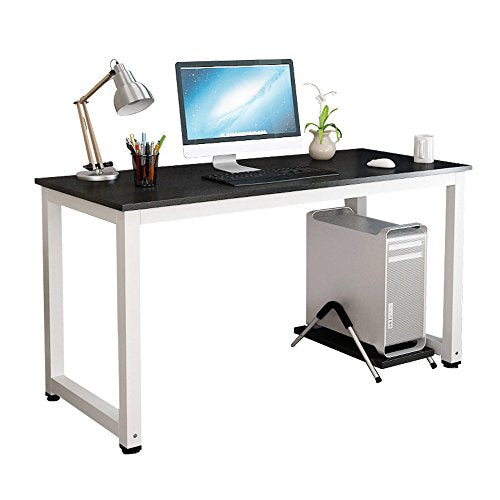 Gootrades Home Office Computer Desk,47u0027u0027 Sturdy Wood Office Desk Study  Writing Desk