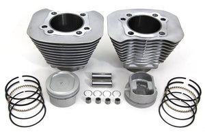 "95"" Big Bore TC Silver Cylinder and 10.5:1 Forged Piston Kit Harley 2000-2006"
