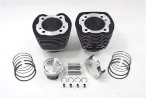 "88"" Evo Big Bore Cylinder & Wiseco 9.25:1 Piston Kit Black Harley 1984-1998"