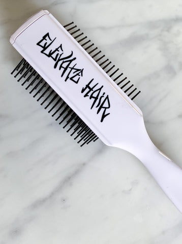 ELEVATE HAIR 9 Row Brush - White