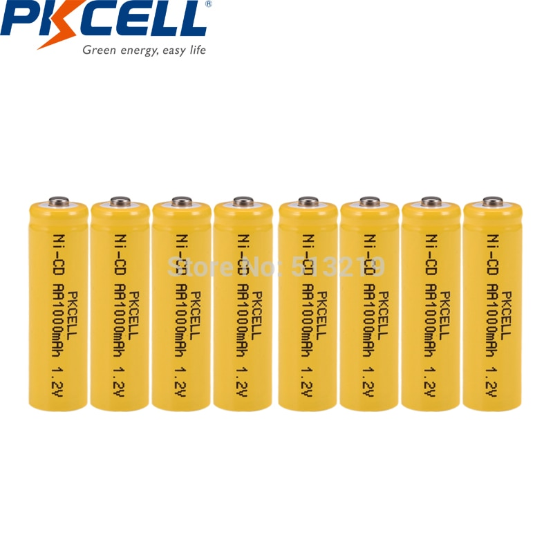 8Pcs NiCd 1.2V Batteries AA Rechargeable Battery 1000mAh Button Top for Solar Garden Light batteries remote control toys car P30