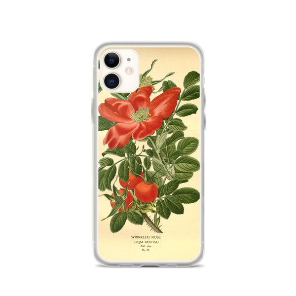 iPhone Case, Gorgeous Red Flower, iPhone Flower Case, Vintage Artwork