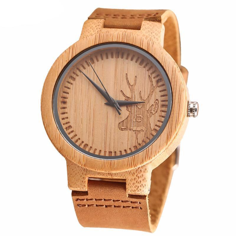 women new in quartz item fashion superior s leather watches wood for gift from watch grain wristwatch vintage analog