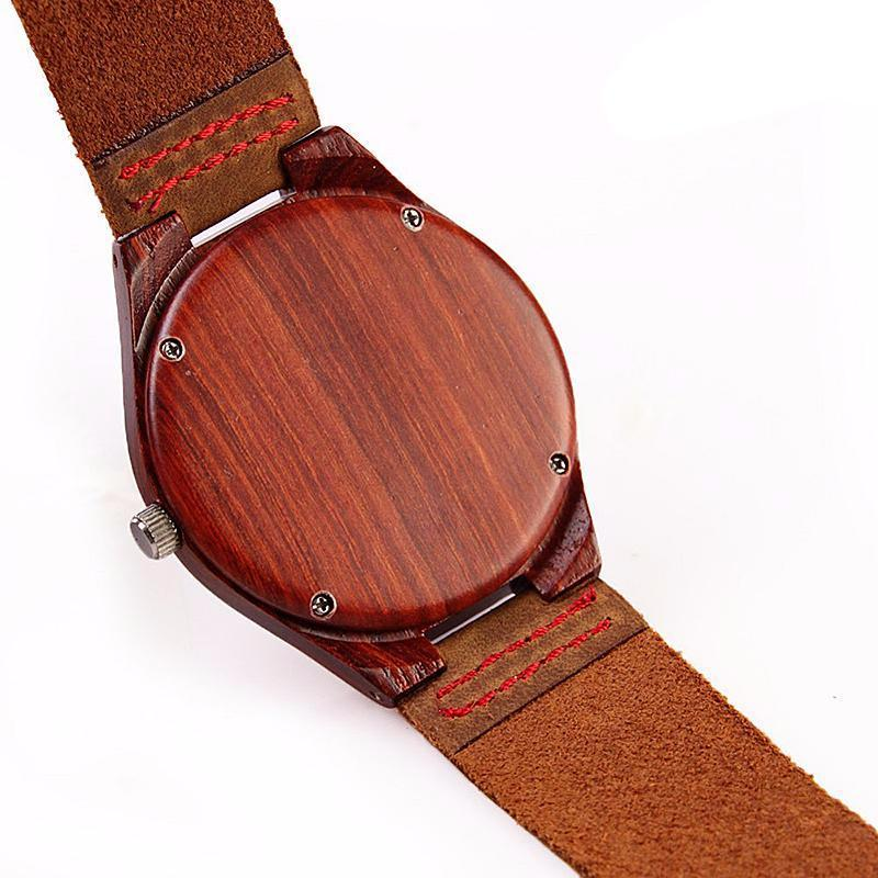 in product accept levenlei sandalwood leather movement shipping hour watch bird from watches box swiss belt bobo drop quartz green cool