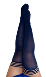 Kixies Navy Opaque Thigh-High Stockings