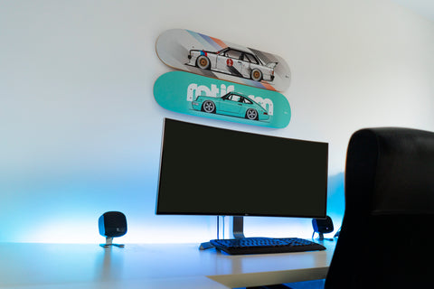 skateboard wall art to hang in your home office