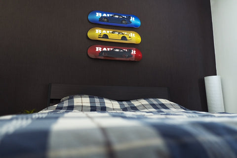 decorative skateboard wall art for the bedroom