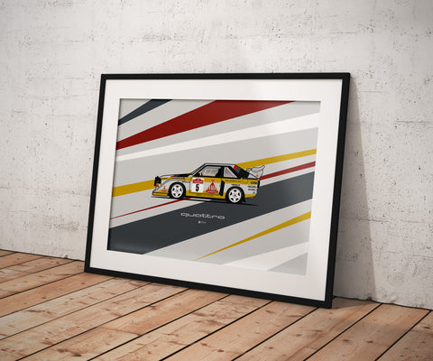 AUDI QUATTRO RALLY CAR PRINT