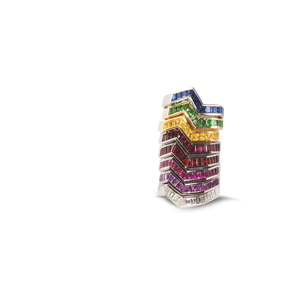 Origami Rainbow Ziggy Rings