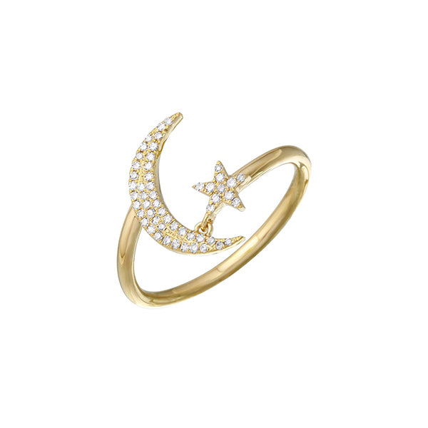 Moon-Star Ring