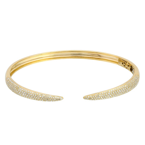 Pave Claw Bangle