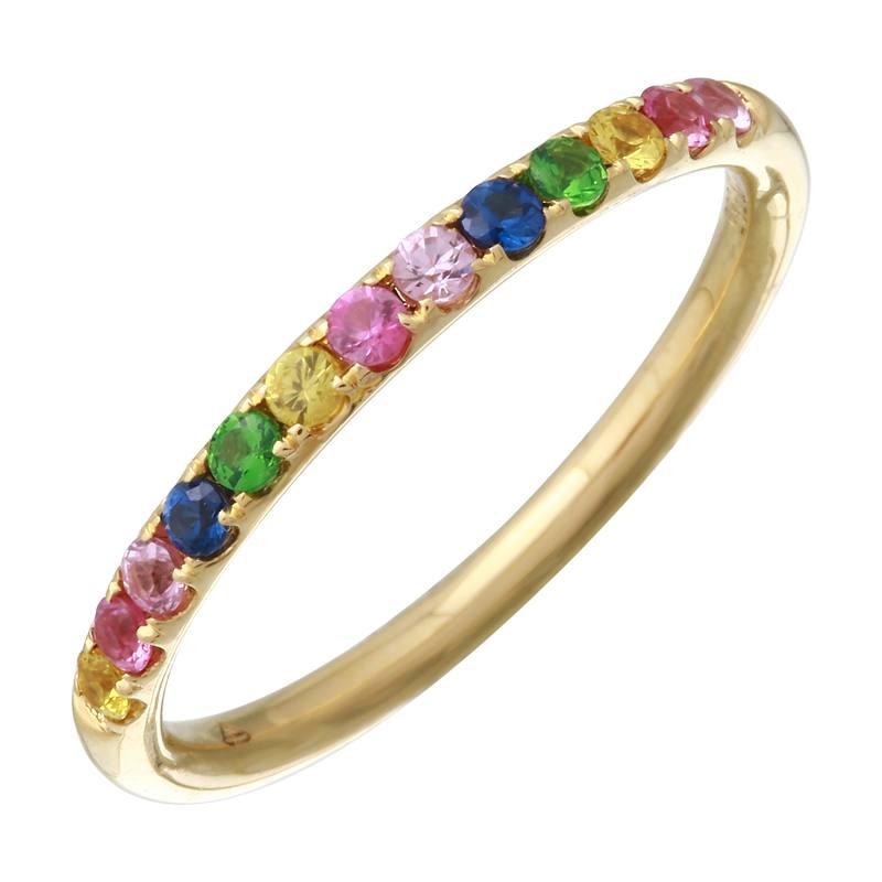 Half Rainbow Eternity Ring