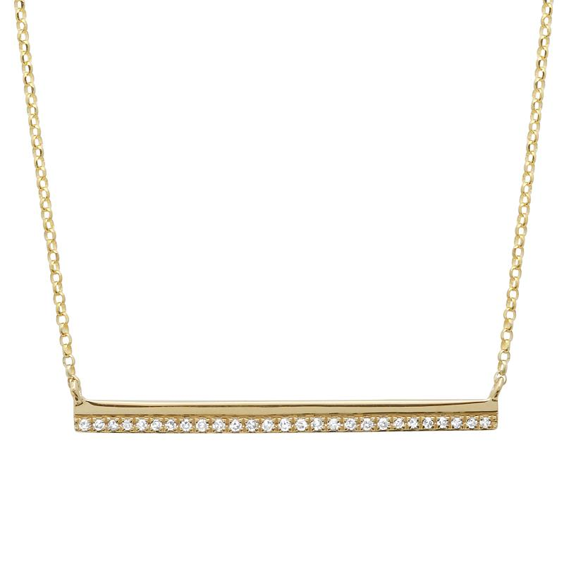 Double Bar Pave Necklace