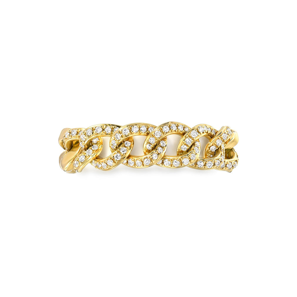 Diamond Cuban Link Ring