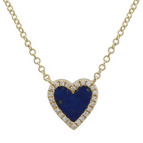 Stone Pave Heart Necklace