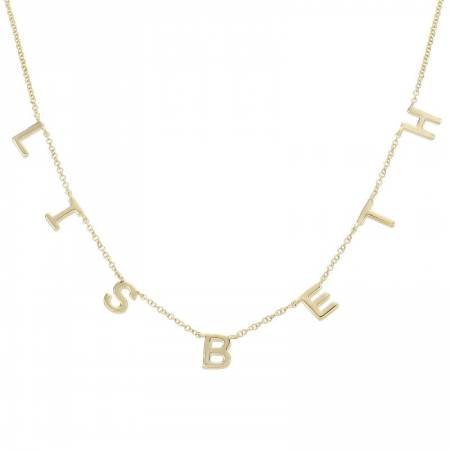 Mini Gold Letters Necklace