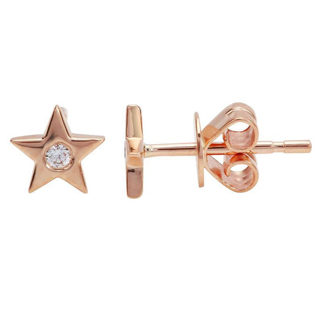 Mini Star with Diamond Stud