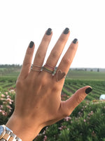 Double Band Pave Ring