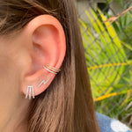 Three Pave Wrap Earrings