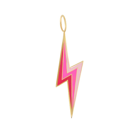 Enamel Three Color Lightning Bolt Charm