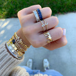 Double Band Baguette Ring