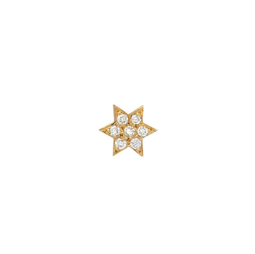 Diamond Star of David Charm