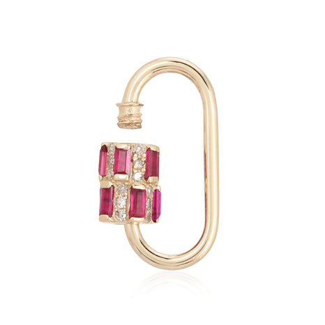Disorganized Diamond and Gemstone Carabiner Lock Charm